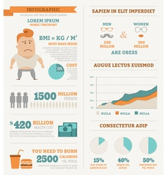 Health infographics vector