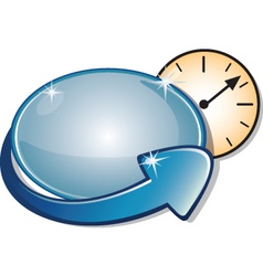 arrow banner clock vector image
