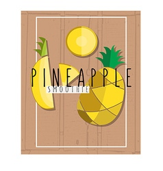 Colorful of pineapple slices in flat design vector