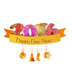 Happy new year 2016 greeting card or poster design vector