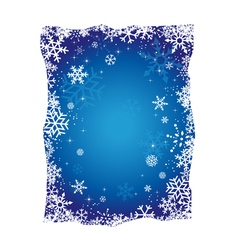 Blue Christmas Snowflakes Background vector image