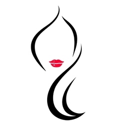 hair salon icon with woman vector image