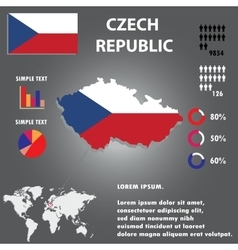 Czech republic country infographics template vector