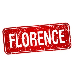 Florence red stamp isolated on white background vector