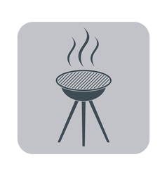 The barbecue icon vector