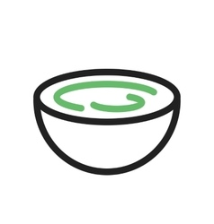 Cream bowl vector