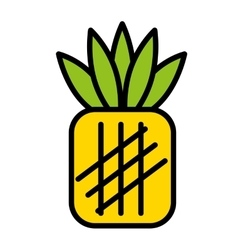 Fesh fruit pineapple isolated icon design vector
