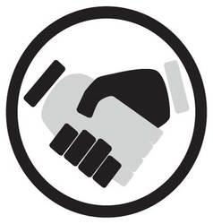 Handshake icon monochrome vector image