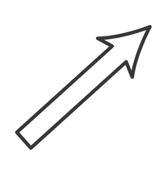 Arrow up growth icon vector