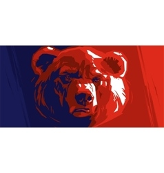 Abstract angry bear vector