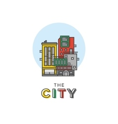 abstract city logo vector image vector image