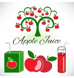 Apple juice packaging design template vector