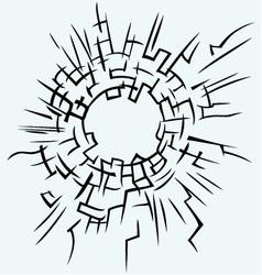 Background broken glass vector