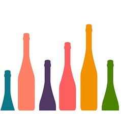 Background with wine bottles vector image