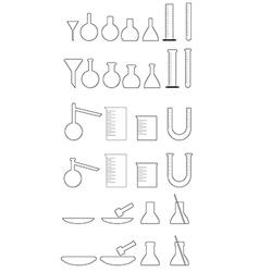 Chemical utensils white vector