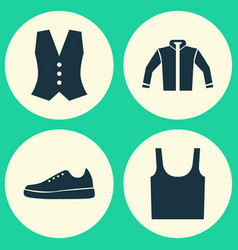 Clothes icons set collection of sneakers vector