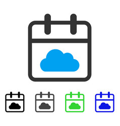 Cloudy day flat icon vector