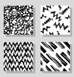 Collection monochrome grange seamless textures for vector