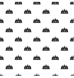 crown pattern vector image vector image