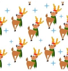 deer pattern4 vector image