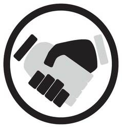 Handshake icon monochrome vector