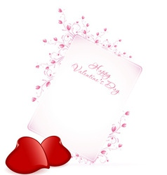 Happy Valentines Day Floral Lettering vector image vector image