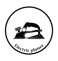 Icon of electric planer vector image