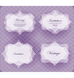 invitation card in retro style vector image