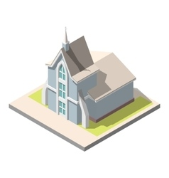 Isometric christian church building vector