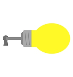 Light bulb with key and keyhole vector