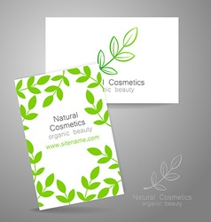 Natural cosmetics logo vector