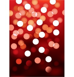Red festive lights background vector image vector image