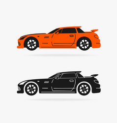sports car symbol vector image vector image
