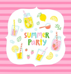 Summer party card vector