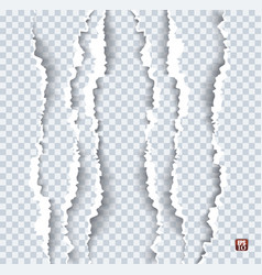 Torn paper with ripped edges vector