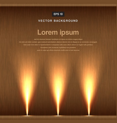 wood background with spotlight vector image