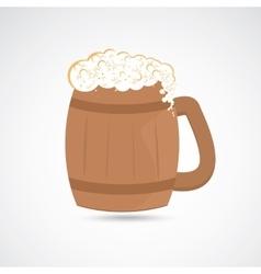 Wooden jug of beer vector image