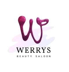 Luxury W logo with glitter vector image