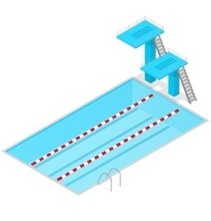 Swimming pool isometric view indoors vector