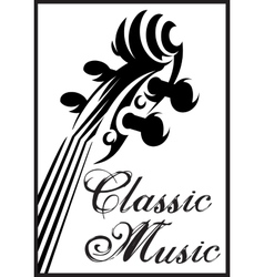 Monochrome pattern with violin for vector
