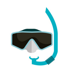 snorkel googles isolated icon vector image