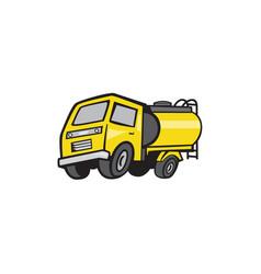 Baby fuel tanker cartoon vector