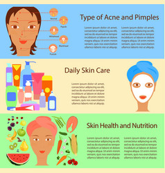 Facial treatment flyer vector