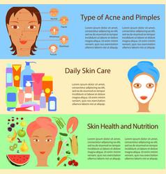 facial treatment flyer vector image