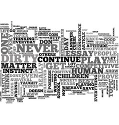 Why do we play dirty text word cloud concept vector