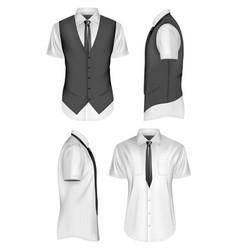 Collection of polo shirts vector