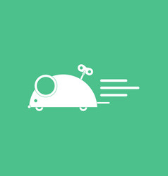 icon on background clockwork mouse toy vector image