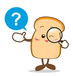 Bread 14 isolated happy smile searching something vector