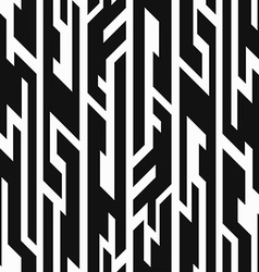 Monochrome aztec geometric seamless pattern vector