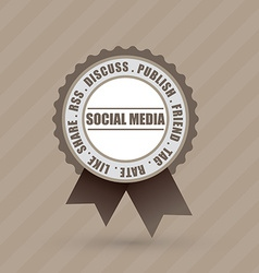Social badge label vector